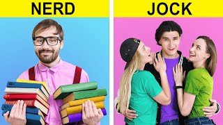 Jock vs Nerd / Funny Situations That Everyone Can Relate To