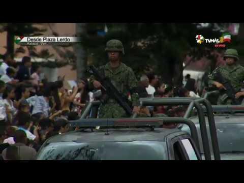 Desfile Conmemorativo Del 16 De Septiembre Desde Xalapa, Veracruz.