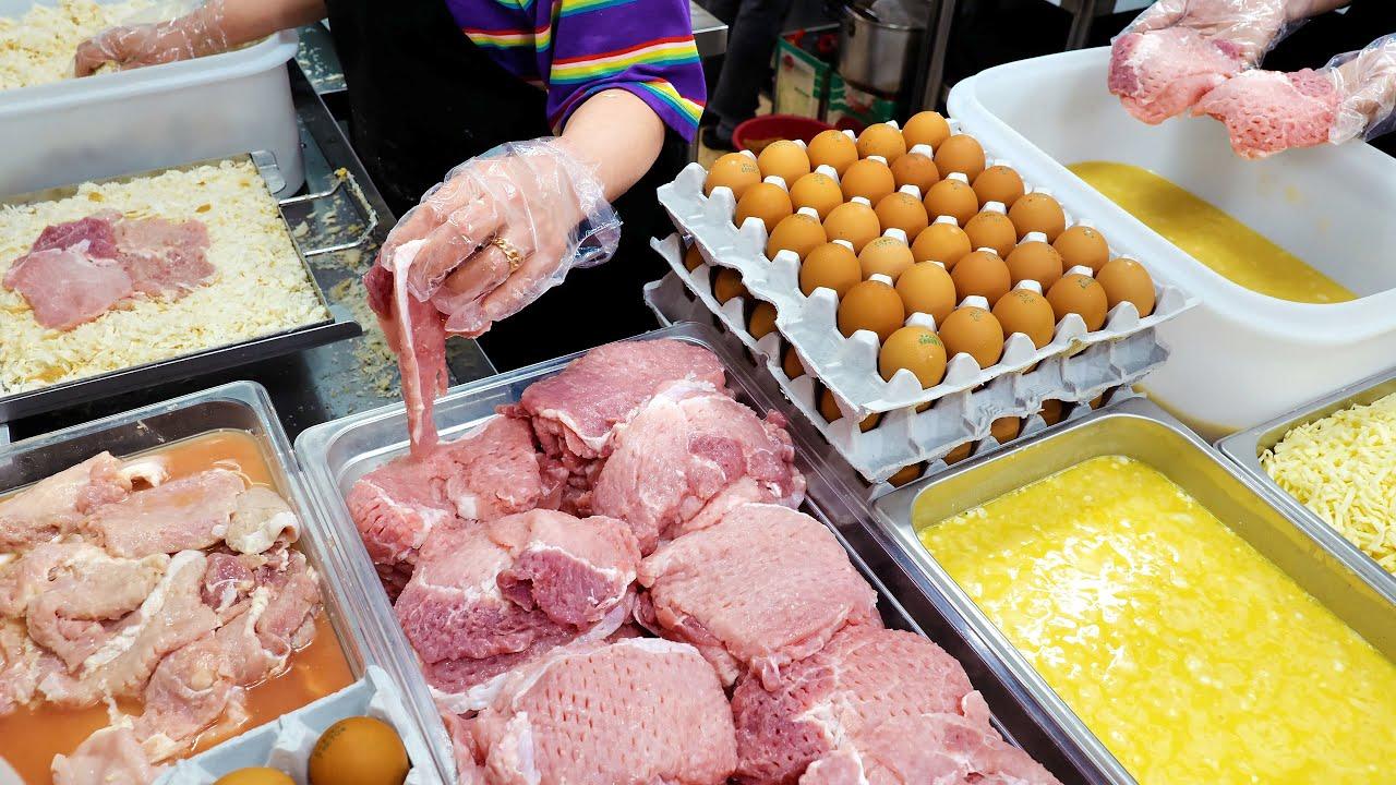 우리집은 땡초 돈까스가 기가막혀~ 무항생제 등심! 100% 자연산 치즈 돈까스   Spicy Pepper, Cheese Pork Cutlet   Korean market food