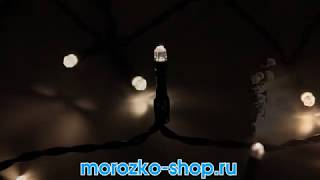 Гирлянда DURAWISE 48 теплых белых LED-огней, 3,5 м, черный провод  497121
