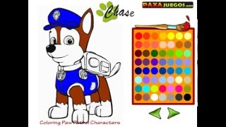 Мультик игра Щенячий патруль раскраски (Coloring Paw Patrol Characters)