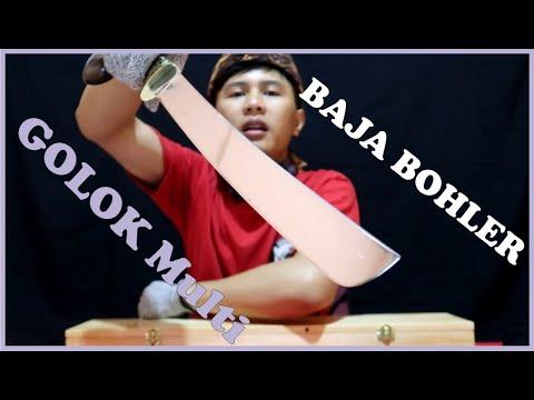 Golok Khas Indonesia Traditional Machete K110 Steel Bohler D2