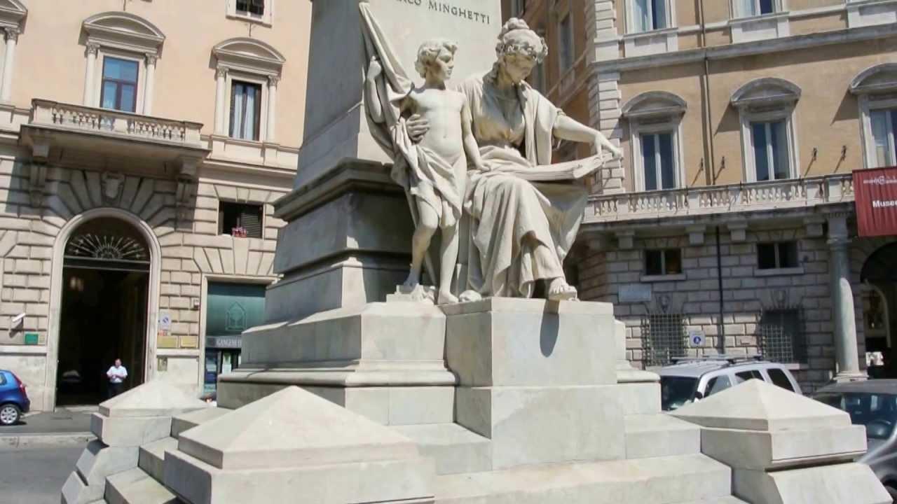 Roma Monumento a Marco Minghetti - YouTube