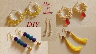 5 Simple Daily Wear Fancy Earrings || DIY Tassel Earrings and Hanging Earrings