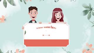 latest animated wedding invitation video