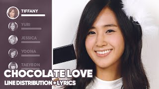 Girls' Generation - Chocolate Love (Line Distribution + Lyrics Color Coded) PATREON REQUESTED