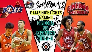 Full Highlights: GINEBRA VS MERALCO SEMIFINALS GAME 4 PBA Philippine Cup Nov 25 2020