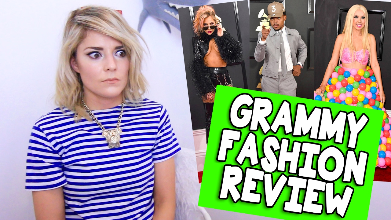 grammy fashion review grace helbig funnydogtv