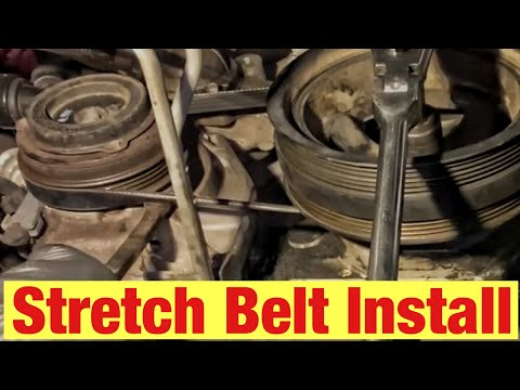 How to Install an AC Stretch Belt on a Chevrolet or GMC Vehicle with 5.3L, 6.0L, 6.2L Engine