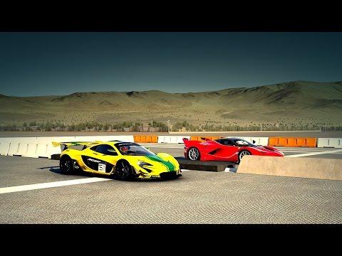 McLaren P1 GTR vs. Ferrari FXXK Drag Race | Forza 6