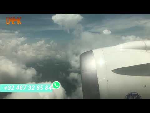 ETHIOPIAN AIRLINES LANDING AT N'DJILI INTERNATIONAL AIRPORT KINSHASA