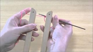 Basico 1 - Como colocar fio no tear de grampo