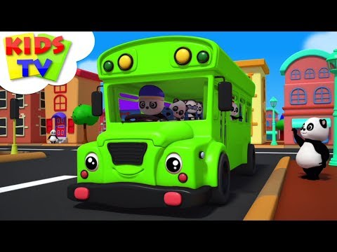 Wheels On The Bus   Baby Bao Panda Cartoons   Nursery Rhymes For Babies - Kids TV