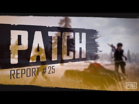 PUBG - Patch Report - PC Update #25