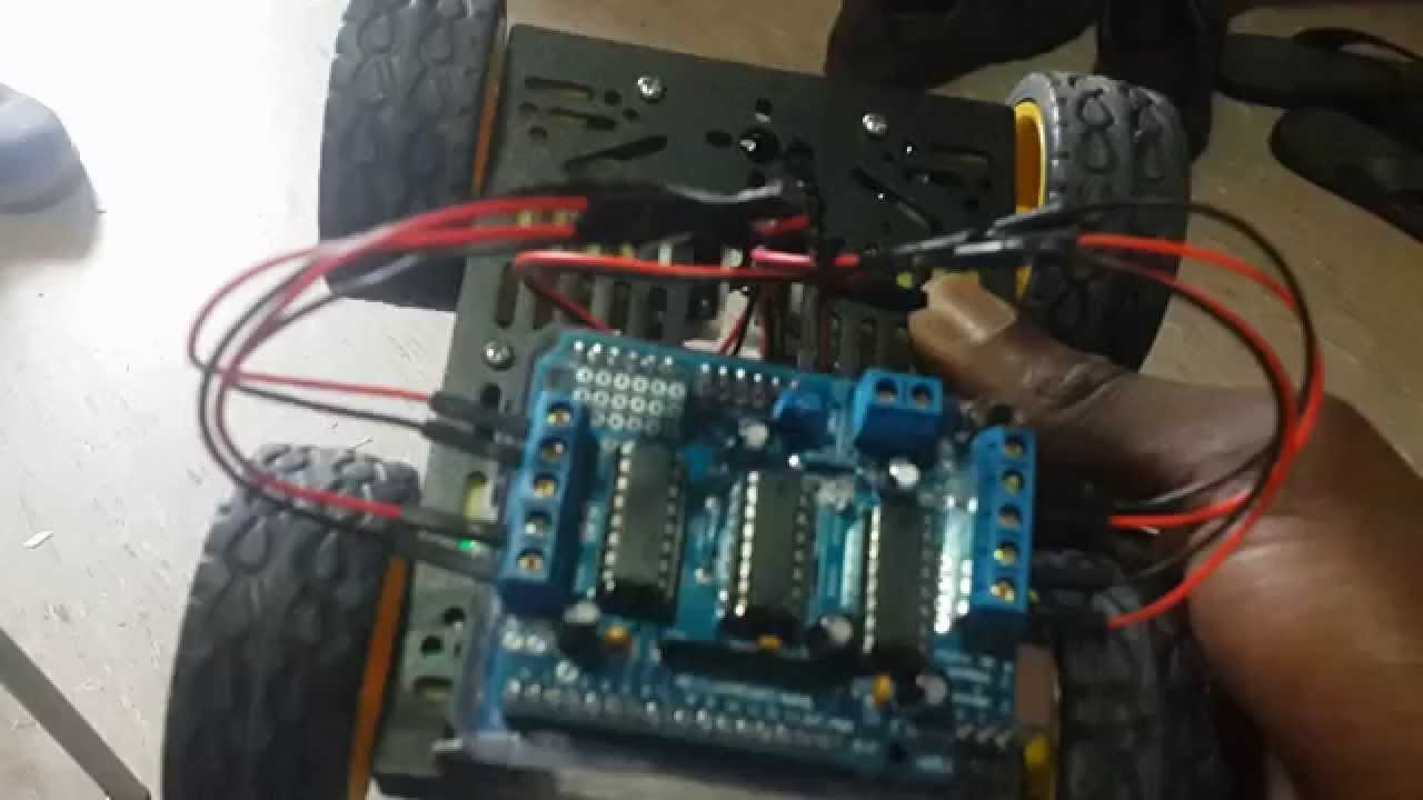 Multi Chassis 4wd With Sainsmart Motor Shield Arduino