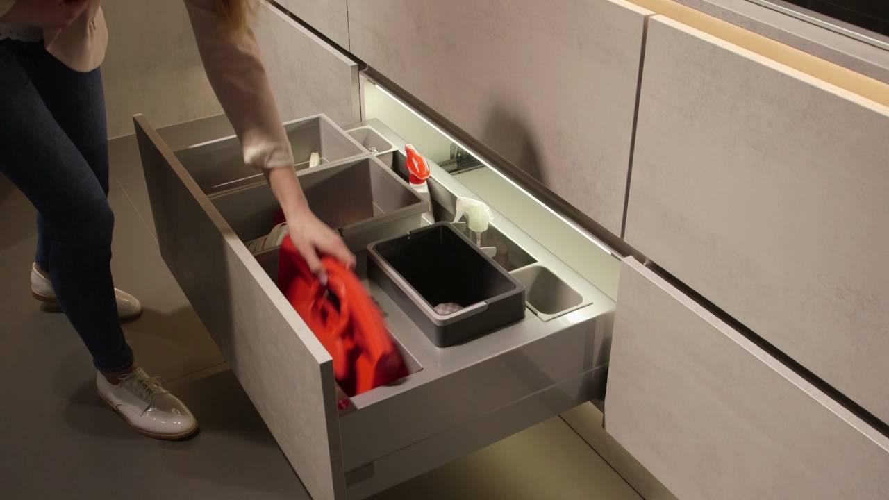 nobilia Küchen Mülltrennsysteme Abfalltrennung - YouTube