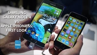 samsung galaxy note 4 vs apple iphone 5s first look