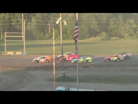 I.M.C.A. Heat Race #2 at Crystal Motor Speedway on 07-07-2018