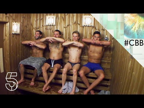 The boys bust a move in the sauna | Day 14 | Celebrity Big Brother 2018