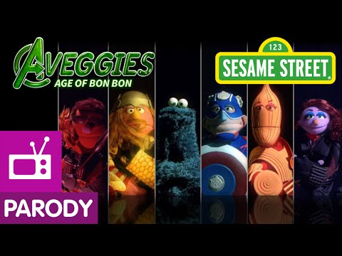 Sesame Street: The Aveggies- Age of Bon Bon (Avengers Parody) video