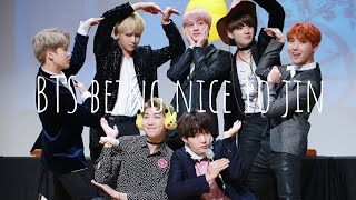 Download bts being nice to jin Mp3 and Videos