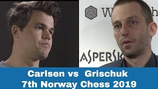 Magnus Carlsen vs Alexander Grischuk | Carlsen shines in 7th Norway Chess 2019
