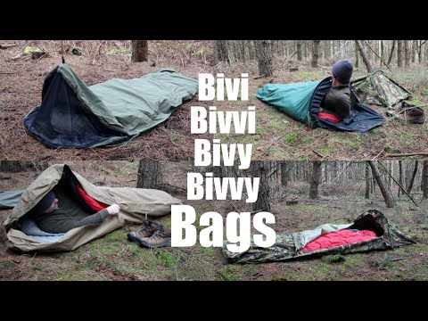 Bivi Bags and Hooped Bivi Bags.  A Comparison of what I Use for Backpacking and Wild Camping.