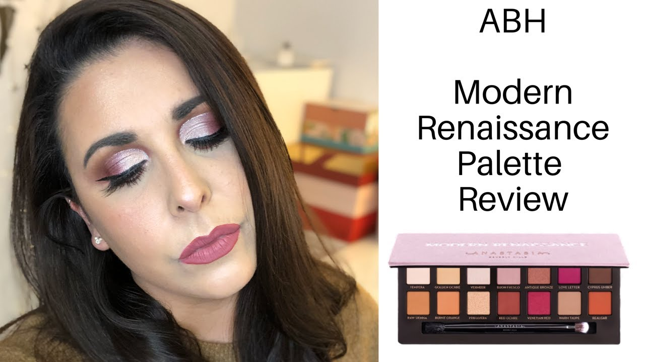 Beauty: ABH Modern Renaissance palette review and five