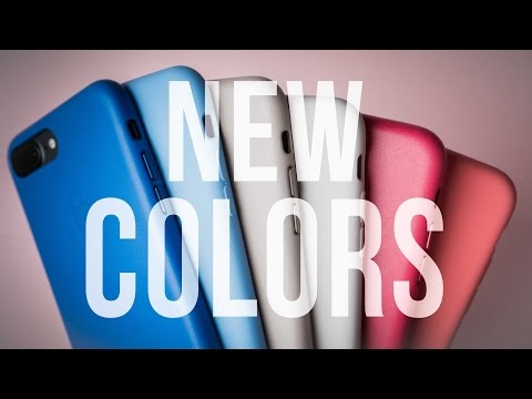 Apple Silicone And Leather Updated Case Colors - First Look - New Colors!