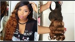 PRE-COLOURED ALIEXPRESS HAIR!   Ombre brazilian bodywave hair   spark aliexpress hair