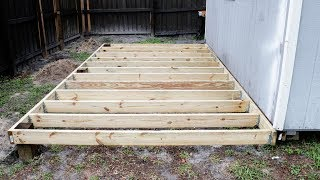 How To Build a Shed or Deck Foundation
