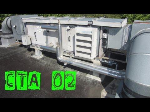 CTA02-Changement du filtre sur une vieille CTA   centrale de traitement d'air
