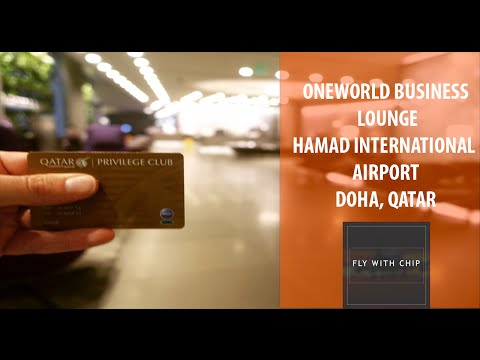 """Oneworld """"Business Lounge"""" Review at Hamad International Airport Doha"""