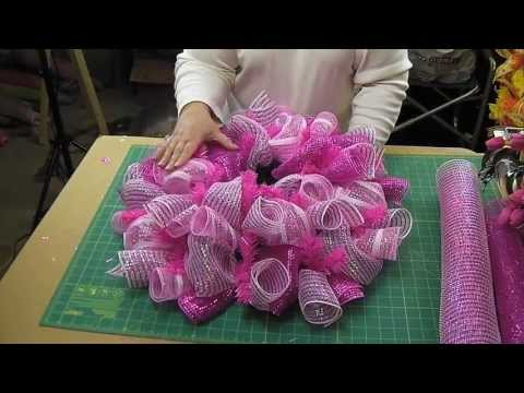 How To Deco Mesh Curl And Loop Method   Use Leftover 21 Inch Mesh
