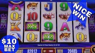Wonder 4 Buffalo Slot Machine  ★Bonus Won★ w/$10 Max Bet !!! Live Slot Play