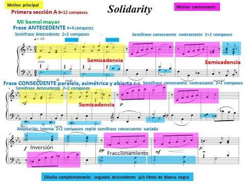 Análisis musical de una pieza para piano: Forma musical, tonalidades, cadencias y motivos