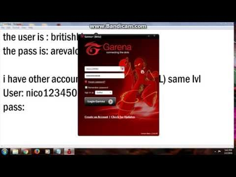 Free Account Garena And League of Legends! REAL 100%
