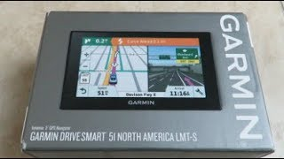 Garmin Drivesmart 51 NORTH AMERICA LMT-S GPS Unboxing and Overview Video