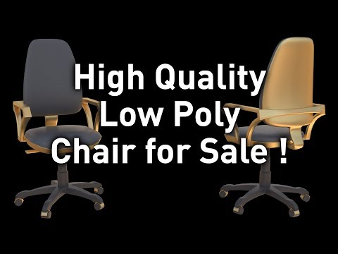 High Quality Low Poly 3D Chair for Sale