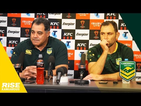 Kangaroos Press Conference v Fiji