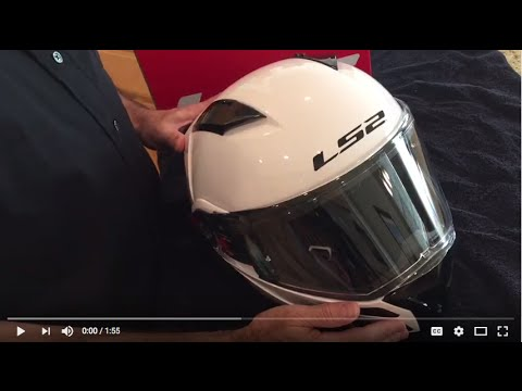How to: remove and replace neck roll pad on LS2 Metro Modular motorcycle helmet
