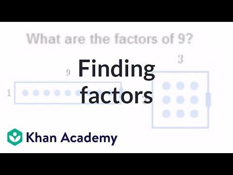 Interactive module: finding factors | Factors and multiples | Pre-Algebra | Khan Academy