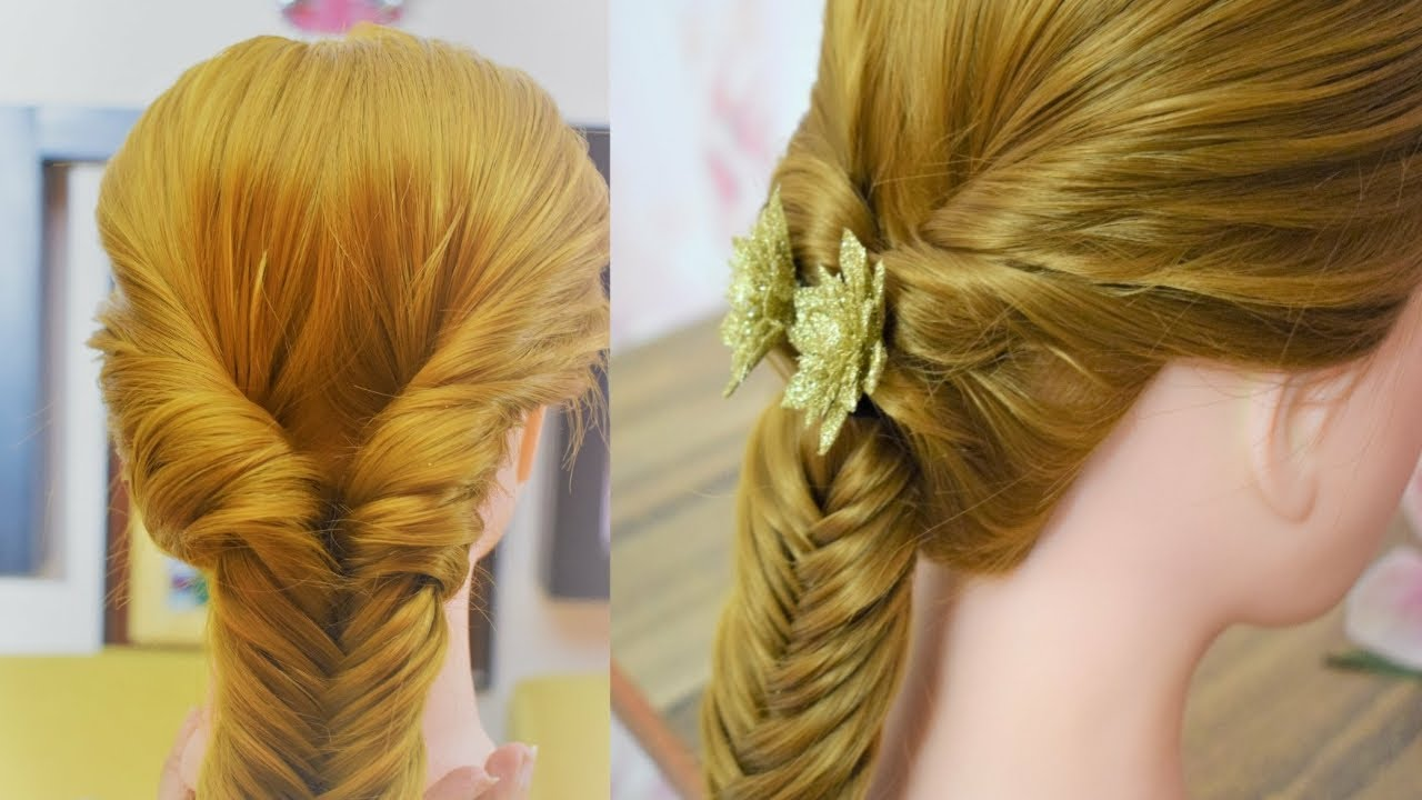 FISHTAIL HAIRSTYLE STEP BY STEP HAIRSTYLE FOR GIRLS   YouTube