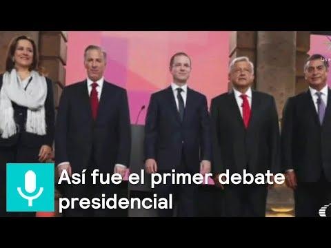 Así fue el primer debate presidencial, en el Palacio de Minería - Despierta con Loret