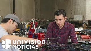 Joven mexicano creó fábrica de drones