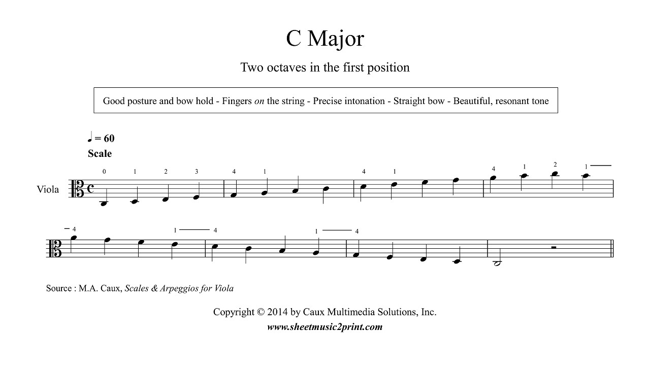 viola c major scale arpeggio grade 1 youtube