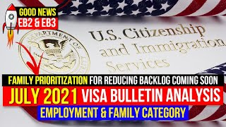 July 2021 Visa Bulletin Analysis | Employment & Family Category | Faster Visa & Green Card process!