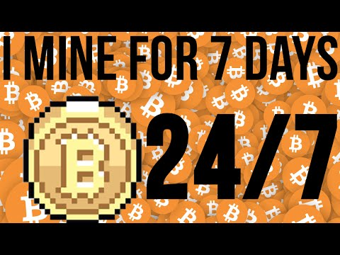 7 DAY$-24/HR$ - BITCOIN MINING EXPERIMENT - See How Much Money I Made :)  JULY 2017