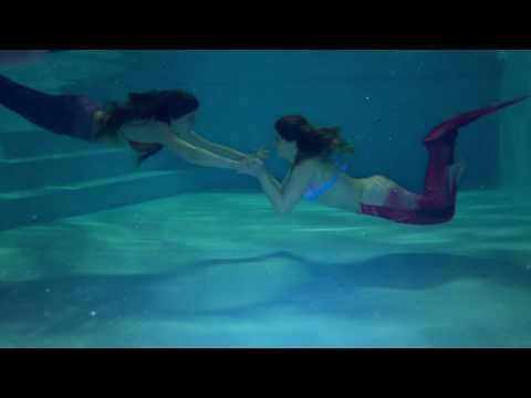mermaid footage filmed underwater