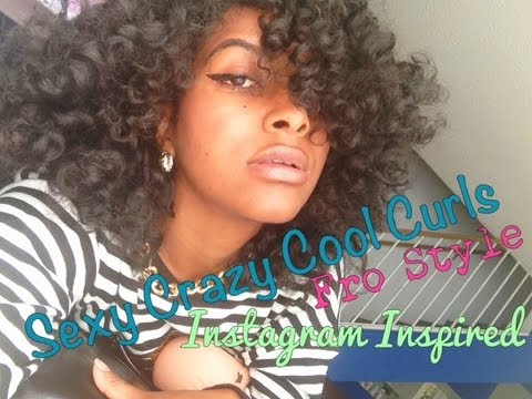 Natural Hair Perfect Curly Afro Tutorial Youtube